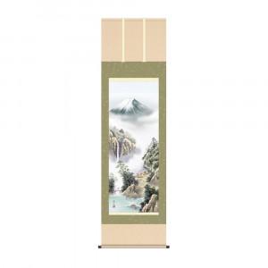 床の間に日本の美 掛け軸を 国内正規品 掛軸 セール価格 伊藤渓山 KZ2B4-25B 富士緑風 54.5×190cm