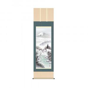 掛軸 伊藤渓山 富士厳寒 KZ2B4-25D 54.5×190cm