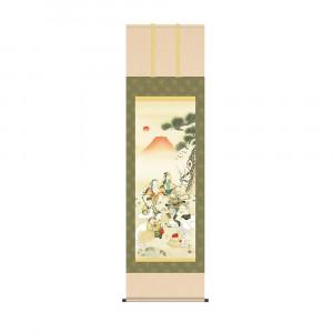 床の間に日本の美 掛け軸を 掛軸 長江桂舟 54.5×190cm 七福神吉祥之図 KZ2D5-090 交換無料 ファクトリーアウトレット