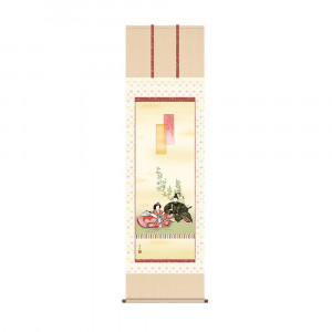 床の間に日本の美 5☆好評 掛け軸を 掛軸 西尾香悦 KZ2F1-188 54.5×190cm 段雛 年間定番