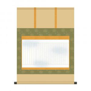 秀逸 和室や床の間の演出に 納経集印掛軸 写経軸 好評 54.5×73cm N4-002