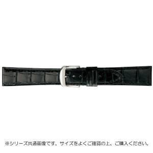 BAMBI バンビ 時計バンド グレーシャス ワニ革 黒 美錠:白 BWA005AO
