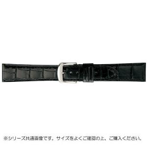 BAMBI バンビ 時計バンド グレーシャス ワニ革 黒 美錠:白 BWA005AP