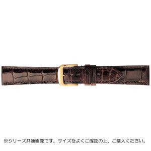BAMBI バンビ 時計バンド グレーシャス ワニ革 チョコ 美錠:金 BWA005BO