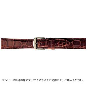 BAMBI バンビ 時計バンド グレーシャス ワニ革 茶 美錠:白 BWA005CP