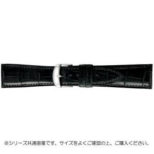 BAMBI バンビ 時計バンド グレーシャス ワニ革 黒 美錠:白 BWA030AW