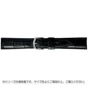 BAMBI バンビ 時計バンド グレーシャス ワニ革 黒 美錠:白 BWA019AS