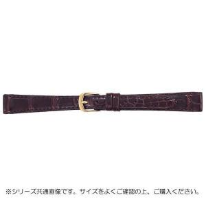 BAMBI バンビ 時計バンド グレーシャス ワニ革 チョコ 美錠:金 BWA512BL
