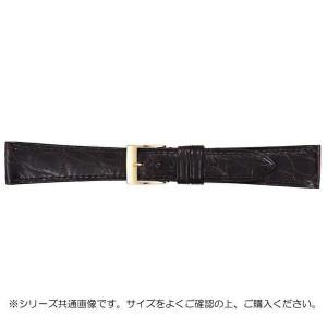 BAMBI バンビ 時計バンド グレーシャス ワニ革 チョコ 美錠:金 BWA112BP