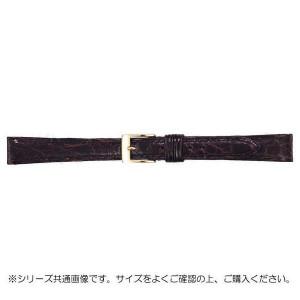 BAMBI バンビ 時計バンド グレーシャス ワニ革 チョコ 美錠:金 BWA113BJ