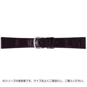 BAMBI バンビ 時計バンド グレーシャス ワニ革 黒 美錠:白 BWA081AO
