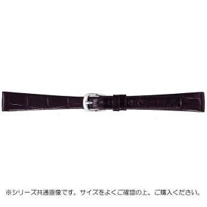 BAMBI バンビ 時計バンド グレーシャス ワニ革 黒 美錠:白 BWA702AF