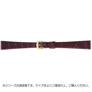 BAMBI バンビ 時計バンド グレーシャス ワニ革 チョコ 美錠:金 BWA702BI