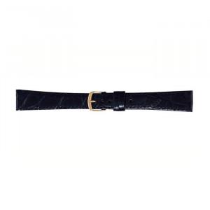 BAMBI バンビ 時計バンド ワニ革 黒 美錠:金 BWA251AO
