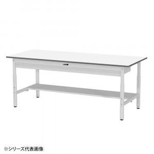 YamaTec SUPA-1590WT-WW ワークテーブル 150シリーズ 高さ調整 H600~900mm 半面棚板・ワイド引出し付き