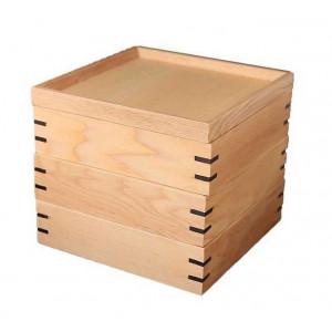若兆 宴三段重箱 ナチュラル小 耐久加工 JH001W