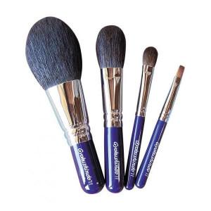 化粧筆 オリジナル4点セット 紺色 OS02
