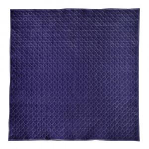 もちもち素材のモロッカンキルトラグ グレイッシュ ネイビー 約200×240cm 240617325