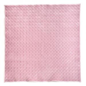 もちもち素材のモロッカンキルトラグ グレイッシュ ピンク 約200×240cm 240617321