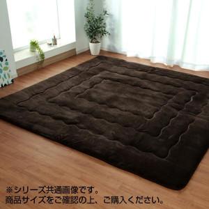 大判ふっくら敷きカーペット 『大判ドーク』 ブラウン 約220×260cm 5996939