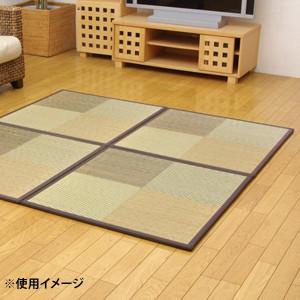 置き畳 ユニット畳 『ニール』 ブラウン 82×82×1.7cm 9枚1セット 軽量タイプ 8629640