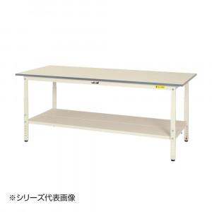 山金工業 YamaTec SUPA-1260TT-WW ワークテーブル150シリーズ 高さ調整タイプ H600~900mm 1200×600mm 全面棚板付