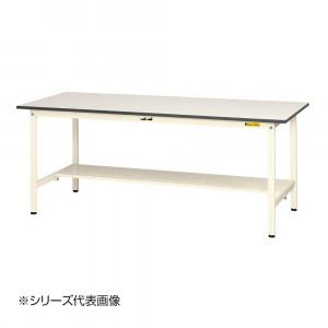 山金工業 YamaTec SUP-1260T-WW ワークテーブル150シリーズ 固定式 H740mm 1200×600mm 半面棚板付