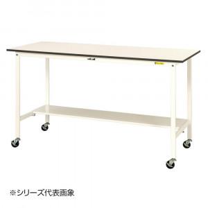 山金工業 YamaTec SUPHC-1890T-WW ワークテーブル150シリーズ 移動式 H1036mm 1800×900mm 半面棚板付