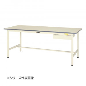 山金工業 YamaTec SUP-1860U-WW ワークテーブル150シリーズ 固定式 キャビネット付 H740mm 1800×600mm