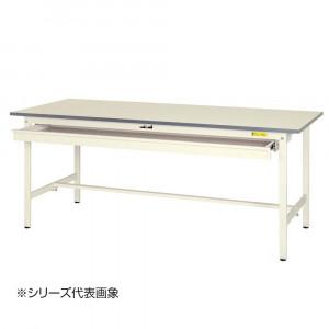 山金工業 YamaTec SUP-1575W-WW ワークテーブル150シリーズ 固定式 ワイド引き出し付 H740mm 1500×750mm
