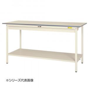 山金工業 YamaTec SUPH-1875WTT-WW ワークテーブル150シリーズ 固定式 ワイド引き出し付 H950mm 1800×750mm 全面棚板付
