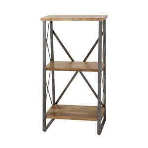 3段ラック 木製 3段シェルフ 木製ラック おしゃれ アイアンラック 鉄脚
