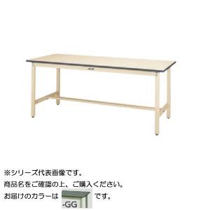 SWR-1575-GG+L2-G ワークテーブル 300シリーズ 固定 H740mm 2段 浅型W500mm キャビネット付き