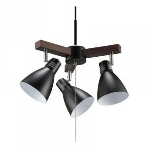 OHM 3灯ペンダントライト LED電球付 ブラック LT-YY30AW-K
