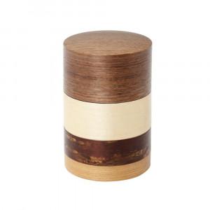輪筒4色 茶筒 くるみ 37202