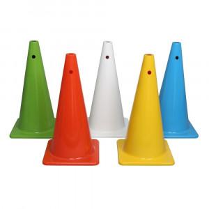 5色カラーコーンセット 大型 穴付 A-2617