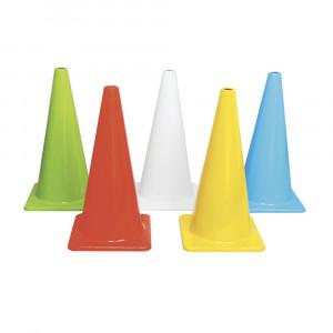 5色カラーコーンセット 大型 穴無 A-2618