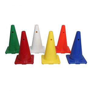 6色カラーコーンセット 小型 穴付 A-2608