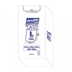 オルディ ポリバックシュレッダー用ボックスL 透明100P×3箱 510201