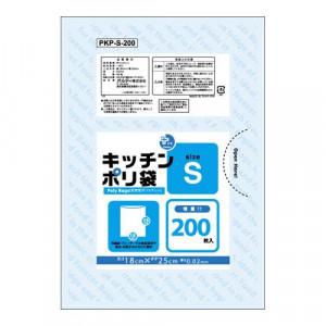 オルディ プラスプラスキッチンポリ袋LD-S増量 透明200P×50冊 553501