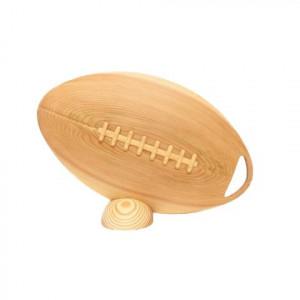 ビッグウエディングスプーン 趣味のシリーズ ラグビーボール型スプーン 木目 飾り台付