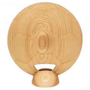 ビッグウエディングスプーン 趣味のシリーズ サッカーボール型スプーン 木目 飾り台付
