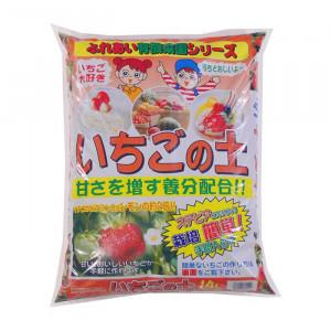 甘くておいしいいちごが手軽に作れます いちごの土 いちご 2020新作 土 イチゴ お見舞い イチゴの土 4袋 14L イチゴ用土