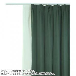 防炎遮光1級カーテン ダークグリーン 2020新作 安値 約幅100×丈150cm 2枚組
