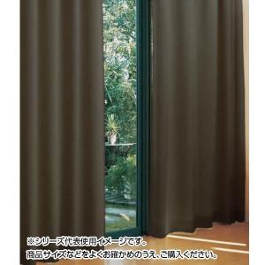 防炎遮光1級カーテン ダークブラウン 約幅100×丈230cm 2枚組