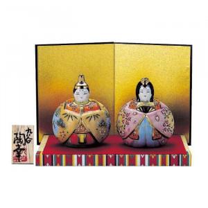 九谷焼 3号玉雛人形 桜盛 N188-04