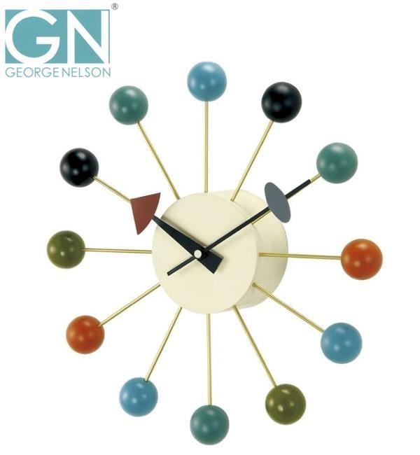 ミッドセンチュリー 時計 壁 ジョージネルソン ボールクロック 掛け時計
