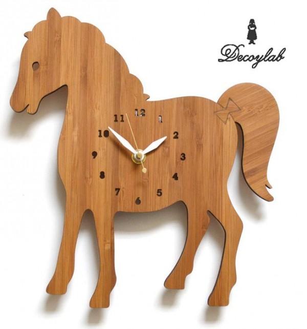 馬 モチーフ 雑貨 グッズ ウォールクロック デザインウォールクロック