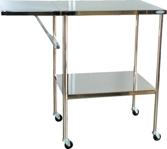 スギモト ステンレス製 折りたたみテーブル付器械台 OA 30