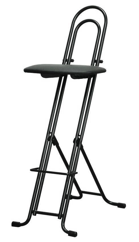 ルネセイコウ 高さ調節が自由な折りたたみチェア ジャンボベストワークチェア ブラック/ブラック 日本製 完成品  LP-800